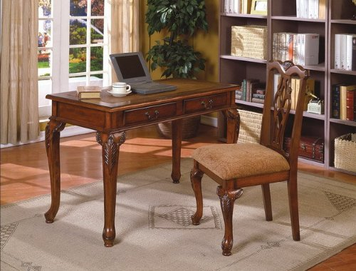 New Dirty Oak Finish Secretary Writing Desk with Chair for sale  Delivered anywhere in USA