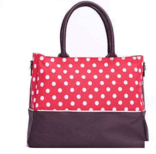 Lily Blair Diaper Bag Purse Large capacity Lightweight waterproof [Polka dot/Green/Navy Blue/Red/7pcs set] - Totes Blair