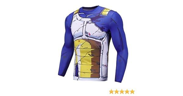 Sibaway Tshirt Vegeta Manga Larga | Disfraz Dragon Ball | Camiseta ...