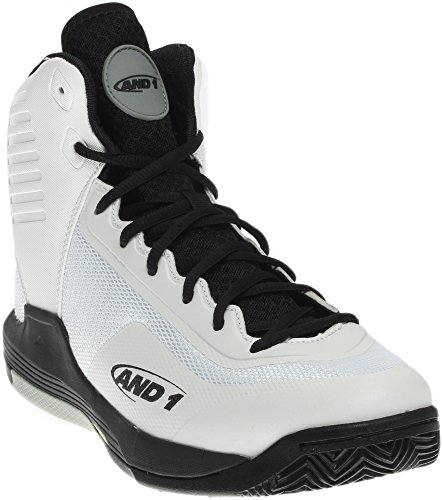 AND 1 Men's Reaper-M Basketball Shoe, White/Black Limestone AND 1 (ES Originals)