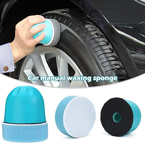 benefit-X Tire Dressing Applicator Car Manual Waxing Sponge with Ergonomic Design Uniform Force Labor-Saving Tire Shine Applicator Dressing Pad for Personal Car Owners DIY, Or Beauty Shop Hand Waxing