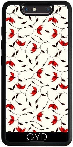 Funda Silicona para ZTE Blade V8 - Abstracta Patrón De Flores De Color Rojo by Boriana Giormova