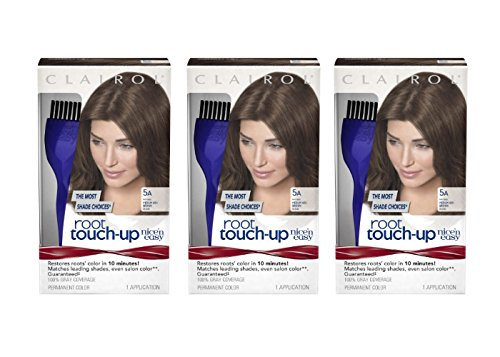 Clairol Nice 'n Easy Root Touch-Up 5A Medium Ash Brown 1 Kit (Pack of - Clairol Easy N Brush Nice