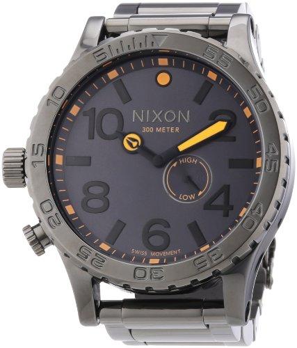 Nixon Men's A0571235 51-30 Tide Analog Display Swi SS Quartz Grey Watch