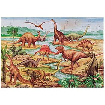 Amazon Com Melissa Amp Doug Dinosaur Dawn Jumbo Jigsaw