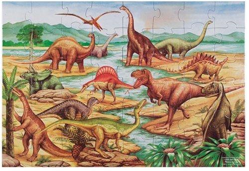 Melissa & Doug Dinosaurs Jumbo Jigsaw Floor Puzzle (48 pcs, 2 x 3 feet)
