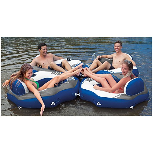 Intex River Run Inflatable Lounge Tube, 4 Pack & Inflatable Cooler Float, 2 Pack by Intex (Image #6)