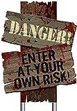amscan Beware Signs Yard Stakes, 3