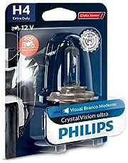 Lampada Farol H4 12V 35/35W CrystalVision Efeito Xenon Para Motos