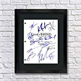 Game of Thrones Cast Autographed Signed Reprint 8.5x11 Script Framed Unique Gifts Ideas Him Her Best Friends Birthday Christmas Xmas Valentines Anniversary Fathers Mothers Day (Unframed)