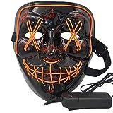 Atimier 2018 Halloween Mask LED Light up Purge Mask Festival Cosplay Halloween Costume