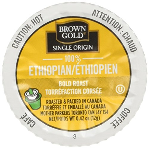 Brown Gold Single Origin Coffee Capsules, 100% Ethiopian, 24 Count