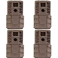 Moultrie A-30 12MP 60 HD Video Low Glow Infrared Game Trail Camera (4 Pack)