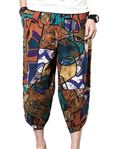 Tempo 8 Braun Hippie Harem Per Libero Estivi 1 Battercake Pantaloni 7 Da Larghi Comodo Uomo Il Vintage Bzx6ZwPq4