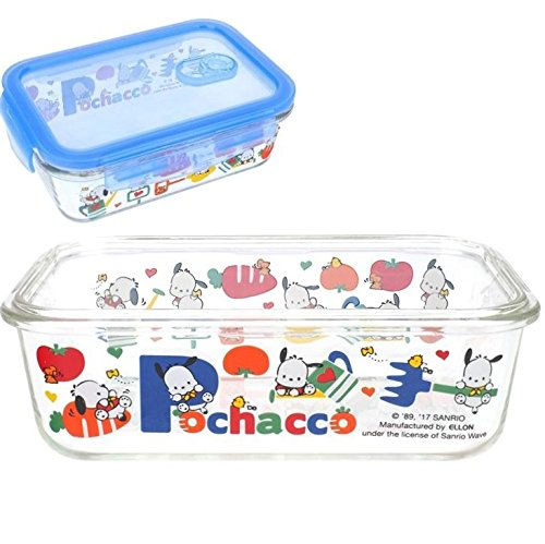 Pochacco LEAD Free Glass Meal Prep Container Lunch Box Food Storage Microwave Oven Dishwasher Safe