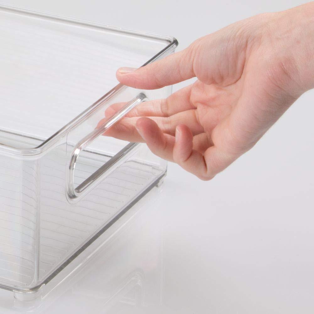 ... soporte para botellas y huevera con tapa - Cajas organizadoras para cocina - Cajas de plástico para despensa - transparente: Amazon.es: Hogar
