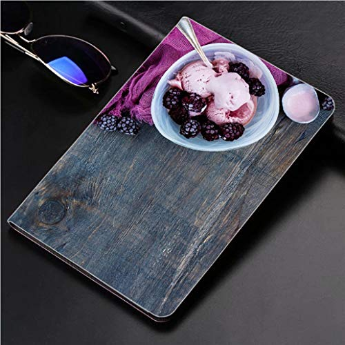 Compatible with 3D Printed iPad Pro 10.5 Case Homemade BlackBerry ice Cream 360 Degree Swivel Mount Cover for Automatic Sleep Wake up ipad case