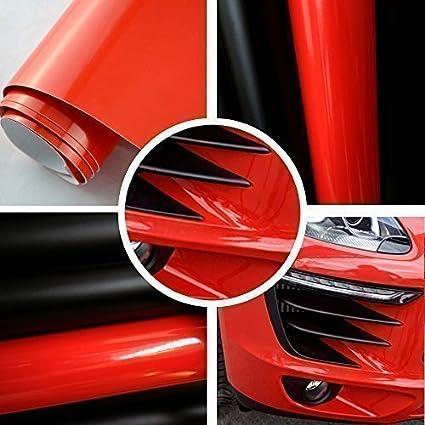 Autofolie glanz rot BLASENFREI 0,3m x 1,52m mit Luftkan/äle 3D Flex