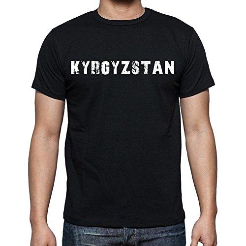 Kyrgyzstan T Shirt For Men Short Sleeve Rounded Neck Black T Shirt For Men