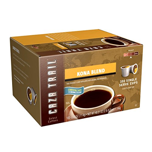 Hawaii Roasters - Caza Trail Coffee, Kona Blend, 100 Single Serve Cups