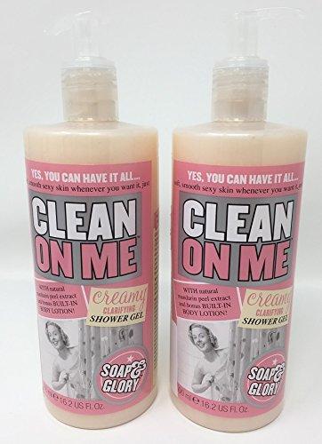 Soap & Glory Clean On Me Creamy Clarifying Shower Gel, 16.2 oz - 2pc - Alpha Hydroxide Acid