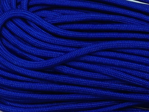 100FT Type III Electric Blue Paracord 550 Parachute Cord 7 Strand Made In USA -