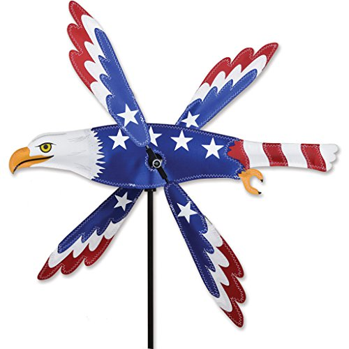 Premier Kites Whirligig Spinner - 18 In. Patriotic Eagle Spinner, ()