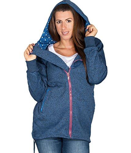 betters tylz saarbz–Sudadera con capucha chaqueta Regular Fit übergangjacke Zip Sudadera con capucha en diversos colores (S de XL) Blau Melange
