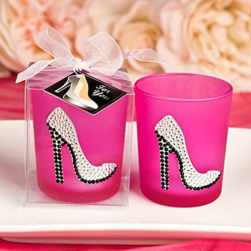 Shoe Candle Favor - Girly high heel shoe votive candle holder from Fashioncraft