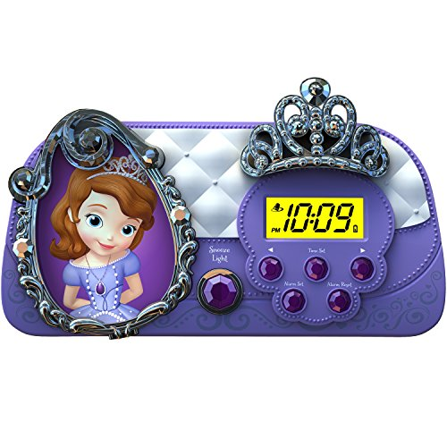 Sofia the First Night Glow Character Alarm Clock (SF-346) (Iphone 5c Clock Radio)