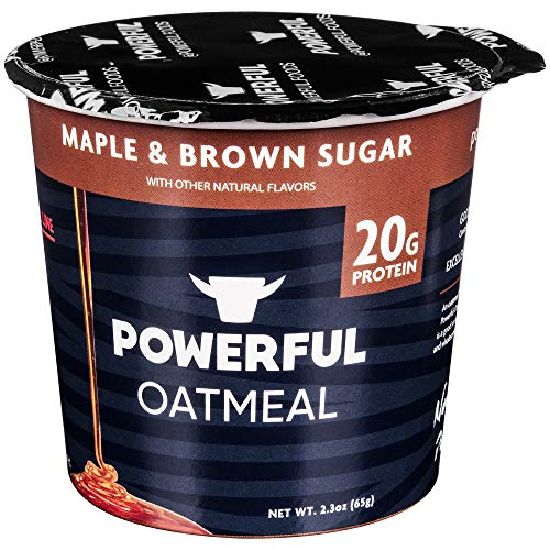 Powerful High-Protein Instant Oatmeal, Natural Ingredients, Kosher, 20g Protein, Maple & Brown Sugar (6 Pack)