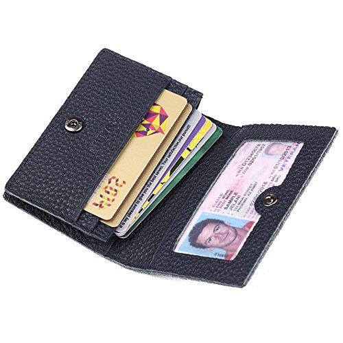 Mens Credit Card Holder (Men's Credit Card Holder Slim Leather RFID Blocking Wallet Case for Men Pabin (Dark Blue))