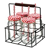 Best Artland Jars - Artland Gingham Sipper Jar Set with Square Metal Review