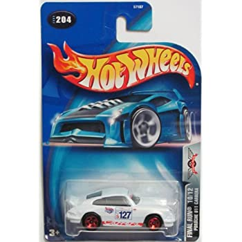 Hot Wheels 2003 Final Run Porsche 911 Carrera 10/12 WHITE #204 1:64 Scale