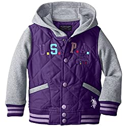 U.S. Polo Association  Little Girls'  Insulated Fleece Jacket with Hood