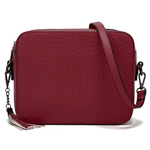 Women Ladies Shoulder AlARION Purse Crossbody Medium for Bags Handbags and Tassel Wine Bag O06qF