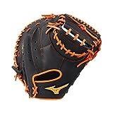 Mizuno MVP Prime GXC50PSE6 - Guantes de béisbol, talla 34, color negro y naranja