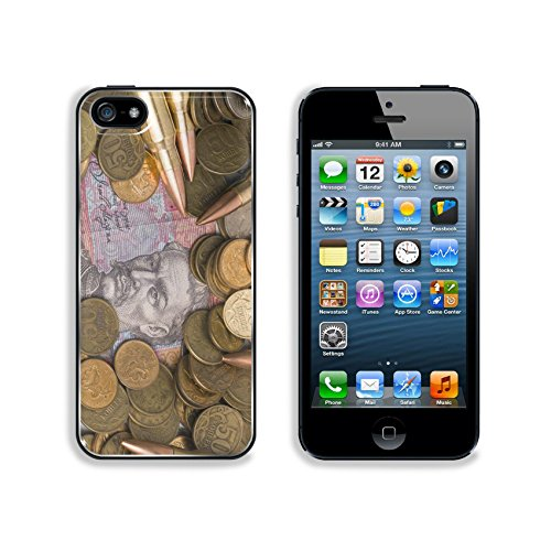 Liili Premium Apple iPhone 5 iphone 5S Aluminum Backplate Bumper Snap Case IMAGE ID 28339581 Russian and Ukrainian coins and bullets