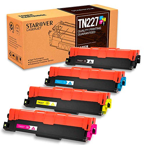 - STAROVER with Chip Compatible Toner Cartridge Replacement for Brother TN227 TN227bk TN 227 TN223 for HL-L3210CW HL-L3230CDW HL-L3270CDW HL-L3290CDW MFC-L3710CW MFC-L3750CDW MFC-L3770CDW (4-Pack)