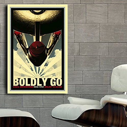 Poster Star Trek Starship Enterprise Pop Art 40x60 inch (100x150 cm) Adhesive Vinyl - Mail Internation
