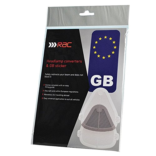 Suitable for all vehicles.. Beambenders /& Convertors SET including FREE GB STICKER /& European Motoring leaflet for Continental and UK Driving Headlight Beam Deflectors RAC Headlamp