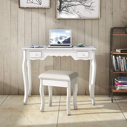 home, kitchen, furniture, bedroom furniture,  vanities, vanity benches 9 on sale Giantex Vanity Set with Flip Top Mirror and in USA