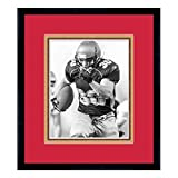 Sports Frames San Francisco 49ers Black Wood Frame with a Triple Mat - Red, Gold, and Football Textured Mats