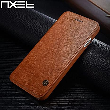 check out f9b7b 5a1ad iPhone 6S / iPhone 6 Leather Case, NXET® G-Case Premium Gulort Luxury  Leather Flip Cover Wallet Card Case (iPhone 6S/6 4.7'', Brown)
