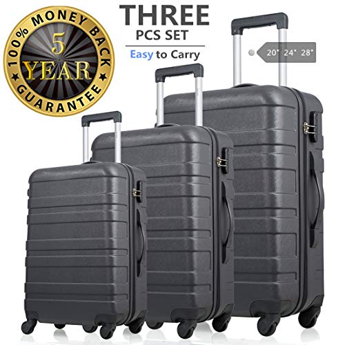 Luggage 3 Piece Set Softshell Lightweight Expandable Rolling Suitcases Sets Deluxe Design for Travel(20
