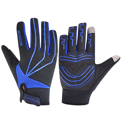 MATT SAGA Men's Women's Cycling Gloves Mountain Bike Motorcycle Full Finger Winter Windproof Touch Screen Breathable Shock Absorbing Silicone Gel Pad Road Racing Training Fitness Gloves