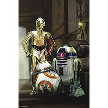 Trends International Star Wars The Force Awakens Droids Collectors Edition Wall Poster 24 X 36