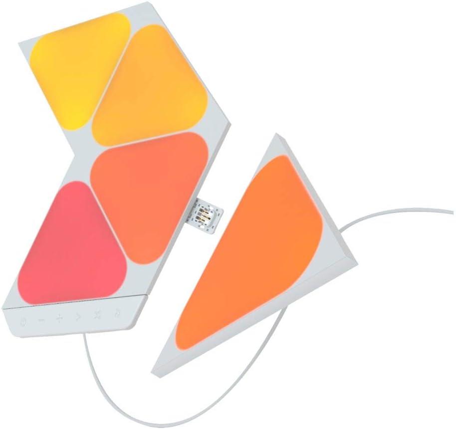 Nanoleaf Shapes Mini Triangles Kit de Démarrage - 5 Mini Panneaux Lumineux