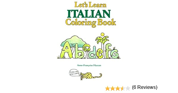 Let's Learn Italian Coloring Book (Let's Learn Coloring Books ...