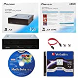 Pioneer 16x BDR-2209 Internal Blu-ray Burner in Retail Box Bundle with 100GB Verbatim M-Disc BDXL, Cyberlink Burning Software and Cable Accessories